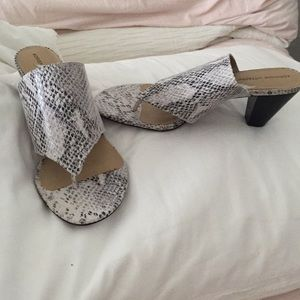 Dressy snakeskin sandals